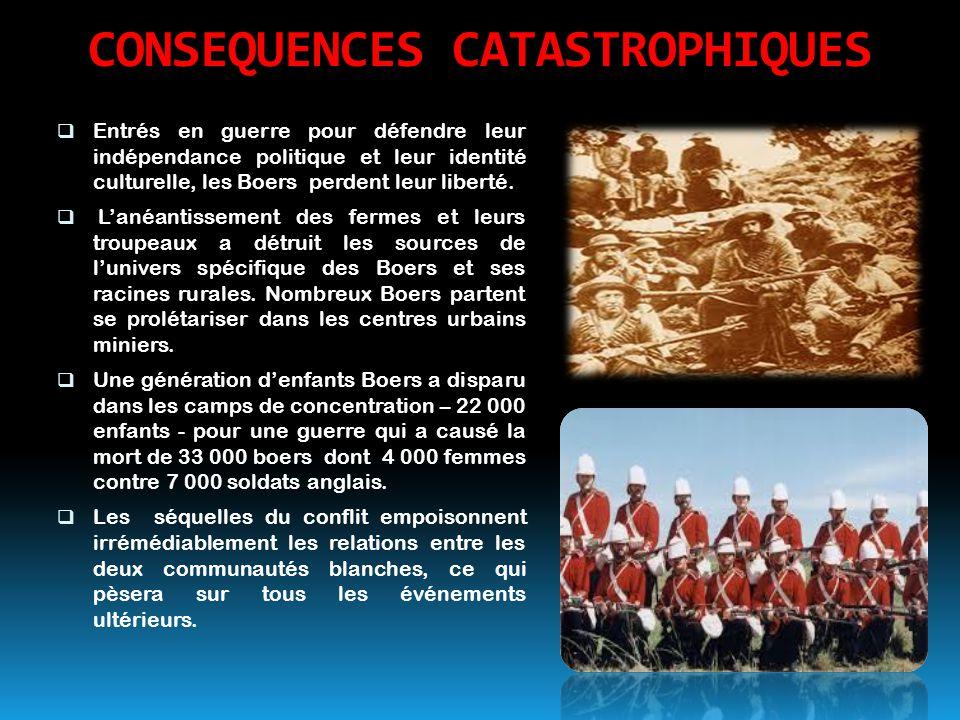 CONSEQUENCES CATASTROPHIQUES