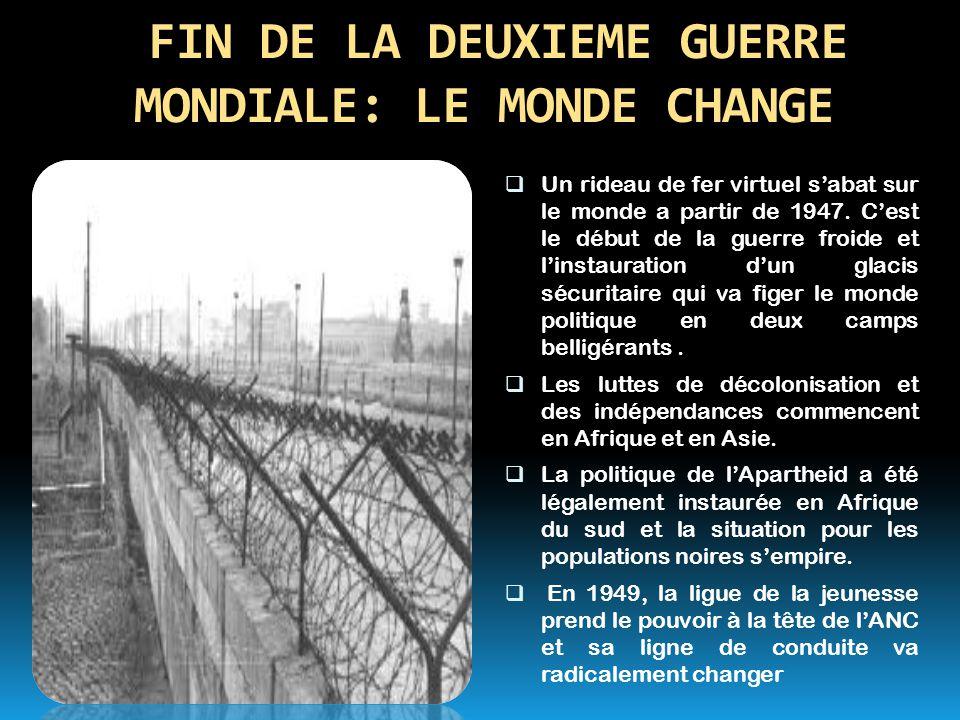 FIN DE LA DEUXIEME GUERRE MONDIALE: LE MONDE CHANGE