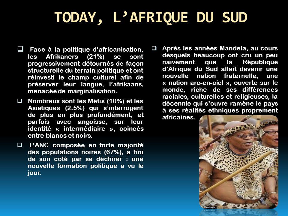 TODAY, L'AFRIQUE DU SUD