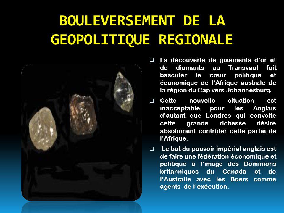 BOULEVERSEMENT DE LA GEOPOLITIQUE REGIONALE