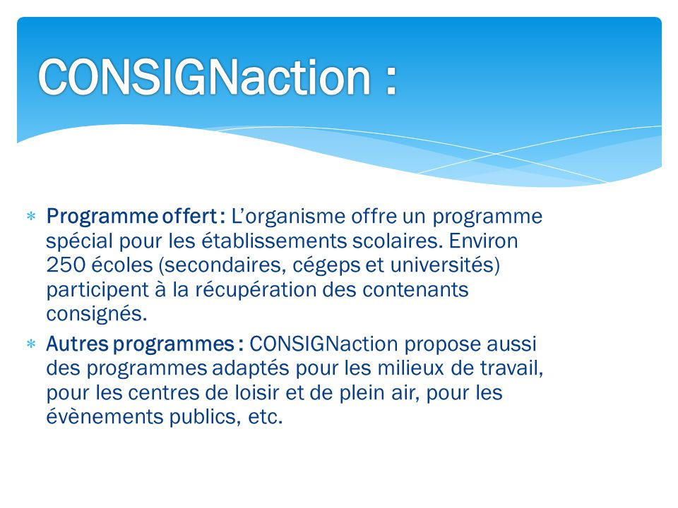 CONSIGNaction :