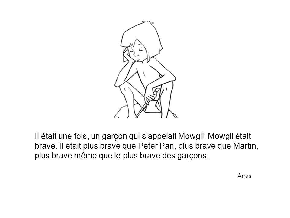 Il était une fois, un garçon qui s'appelait Mowgli. Mowgli était brave