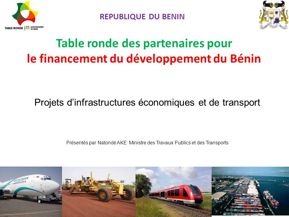 Projets d'infrastructures économiques et de transport