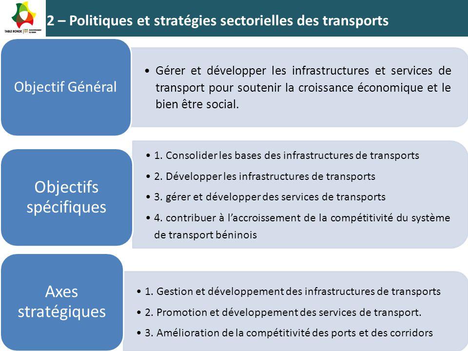 2 – Politiques et stratégies sectorielles des transports