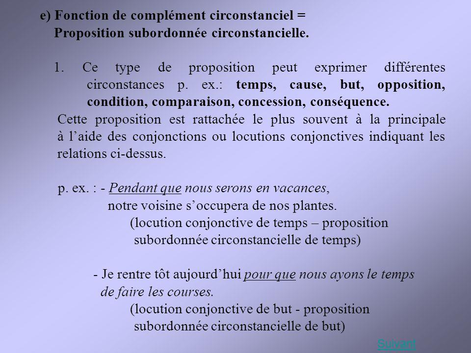 e) Fonction de complément circonstanciel =