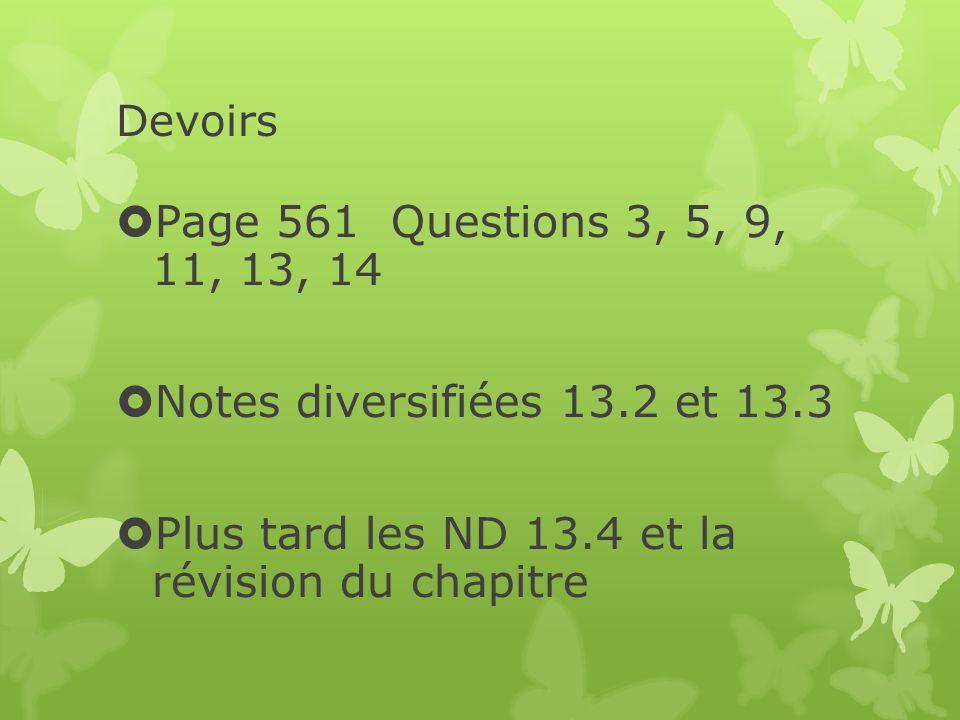 Plus tard les ND 13.4 et la révision du chapitre
