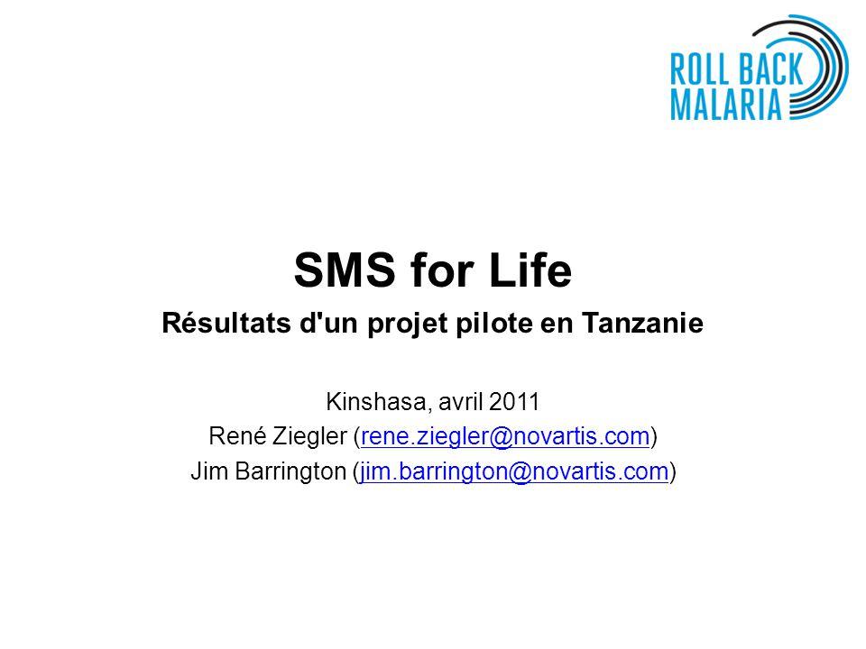 Résultats d un projet pilote en Tanzanie