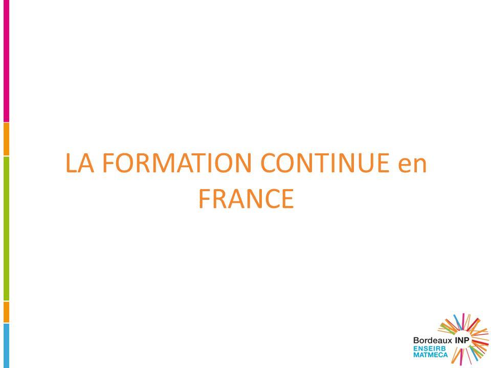 LA FORMATION CONTINUE en FRANCE