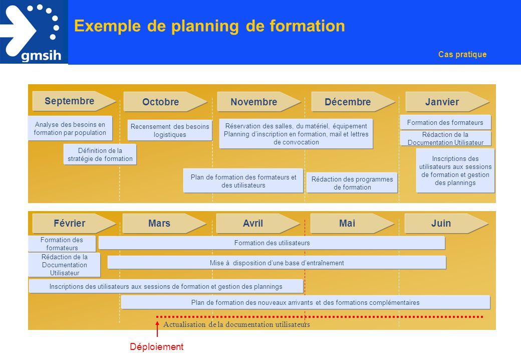 Exemple de planning de formation