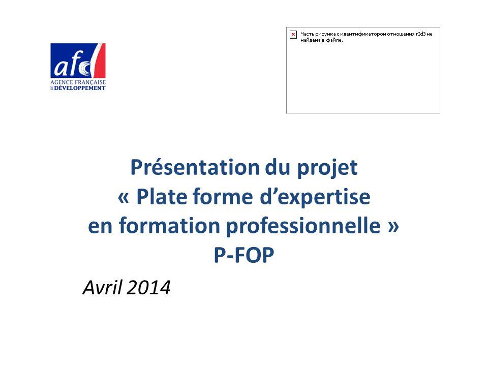 Présentation du projet « Plate forme d'expertise en formation professionnelle » P-FOP