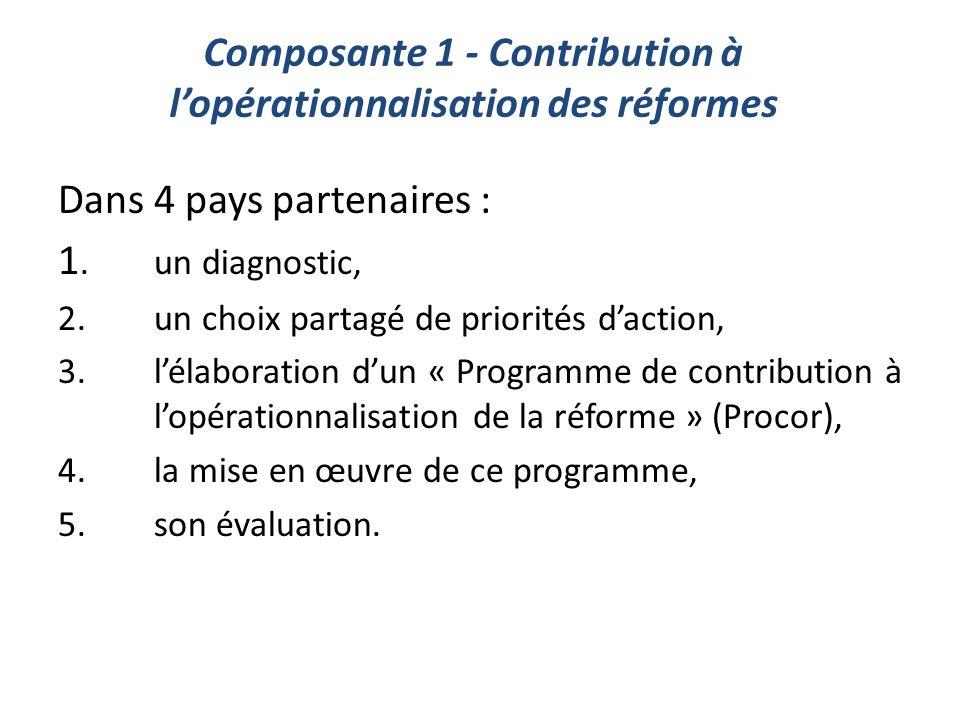 Composante 1 - Contribution à l'opérationnalisation des réformes
