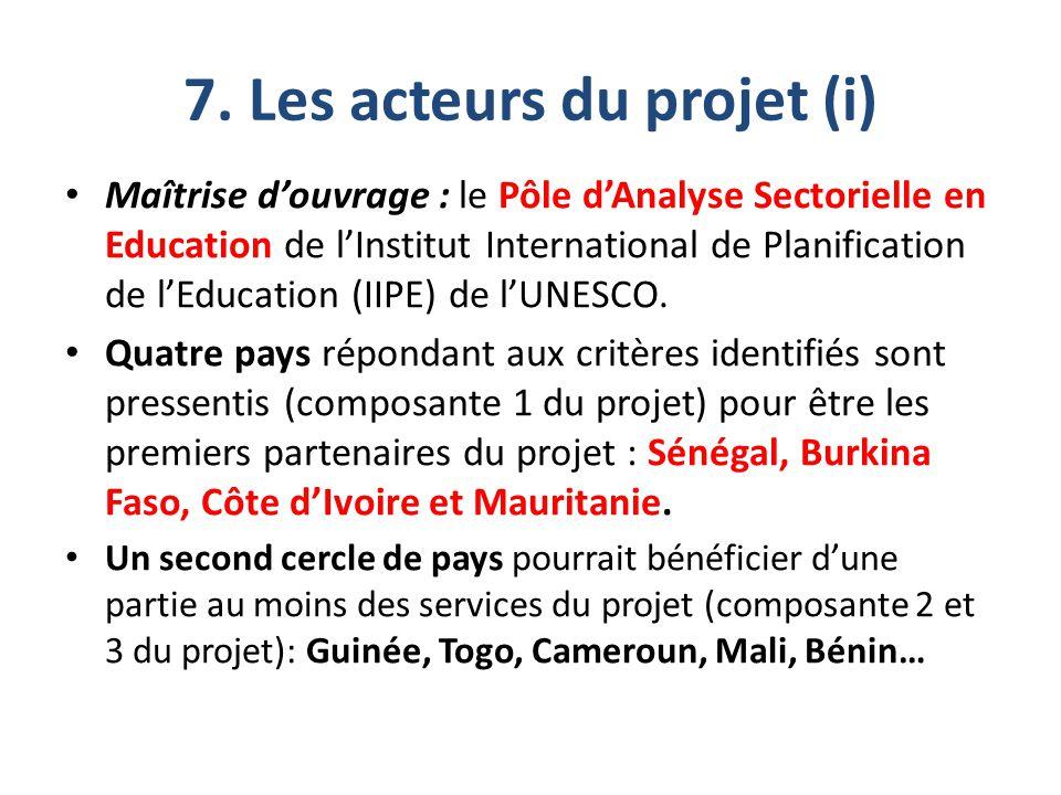 7. Les acteurs du projet (i)