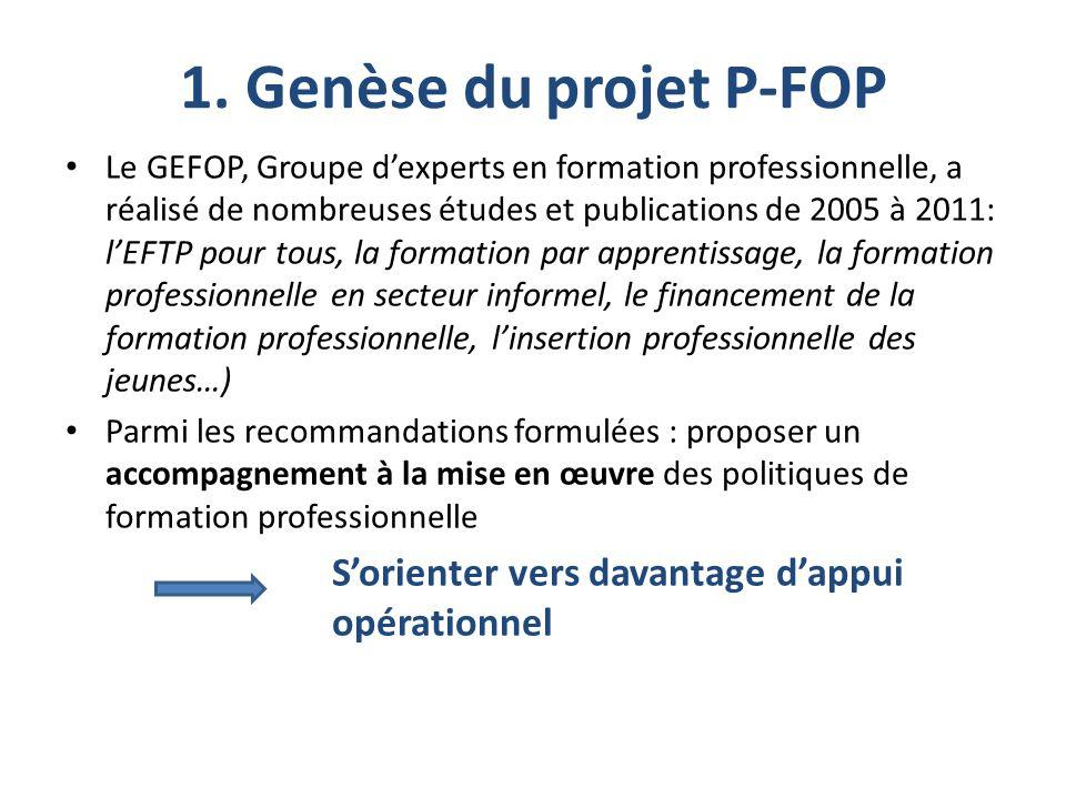 1. Genèse du projet P-FOP