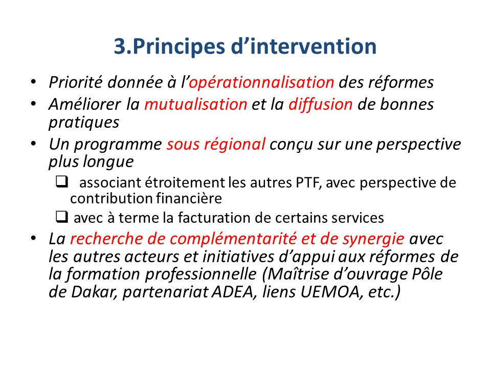 3.Principes d'intervention