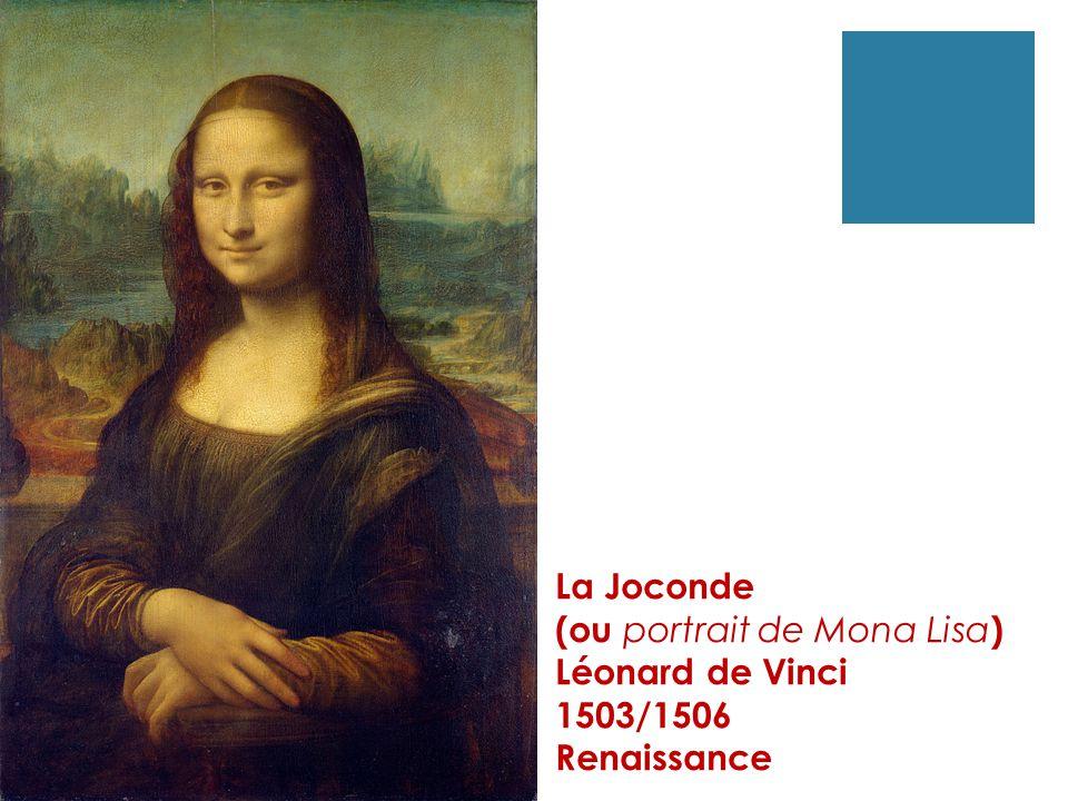 La Joconde (ou portrait de Mona Lisa) Léonard de Vinci 1503/1506 Renaissance