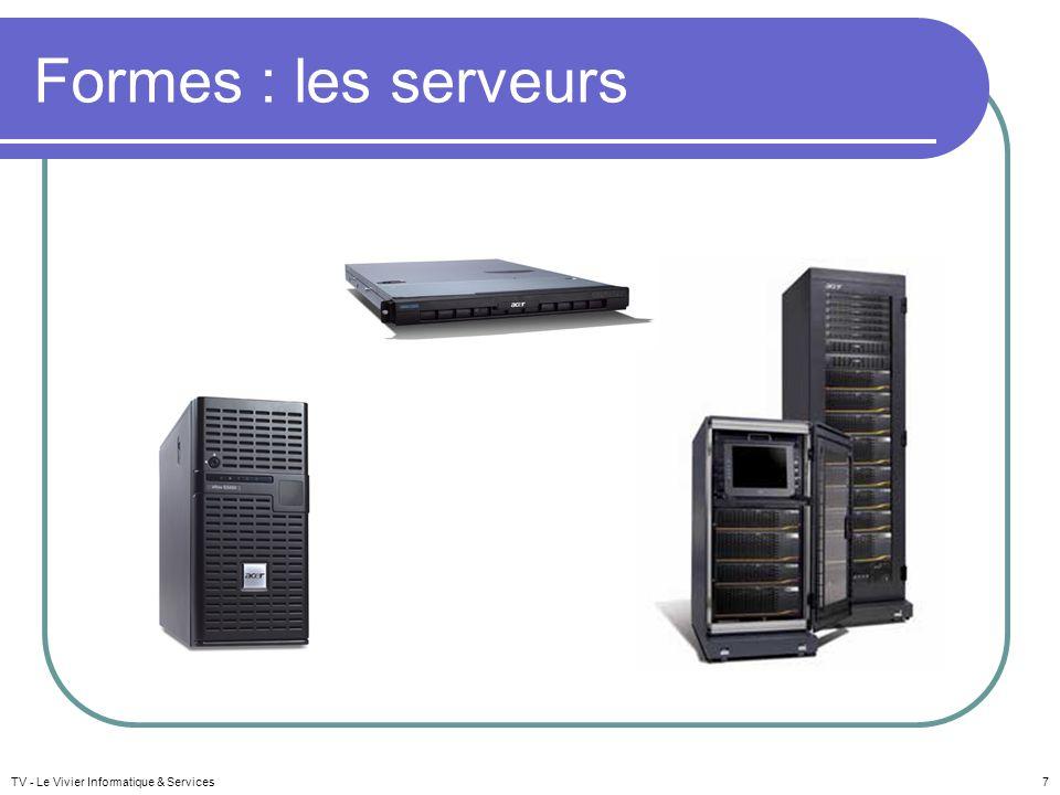 Formes : les serveurs TV - Le Vivier Informatique & Services