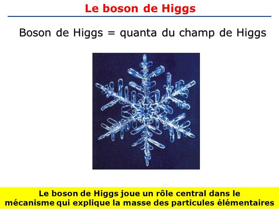 Boson de Higgs = quanta du champ de Higgs