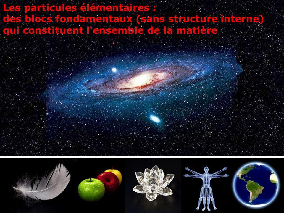 Les particules élémentaires :