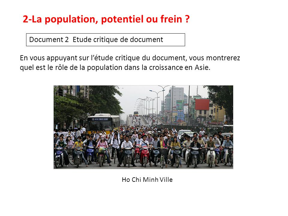 2-La population, potentiel ou frein