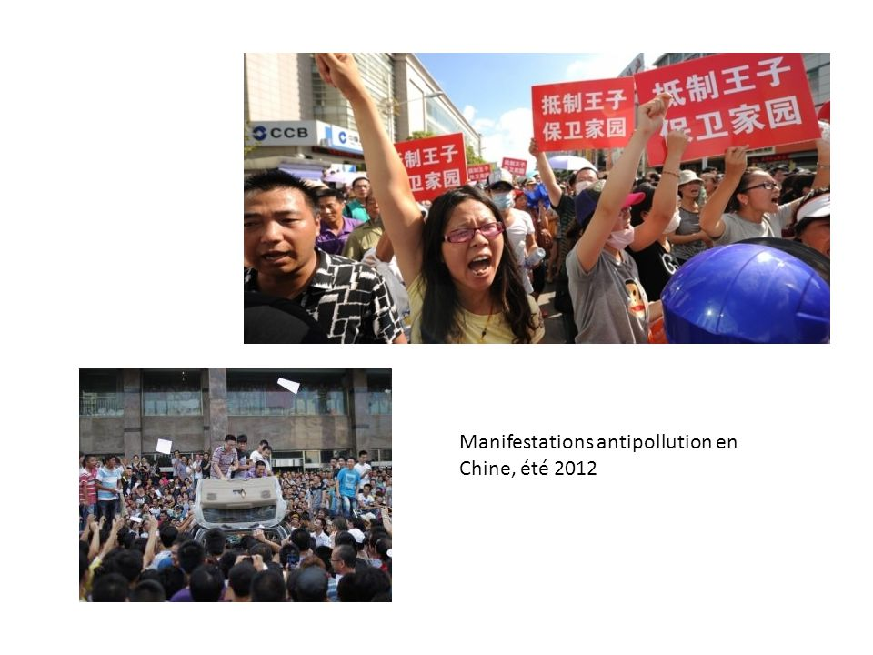 Manifestations antipollution en Chine, été 2012