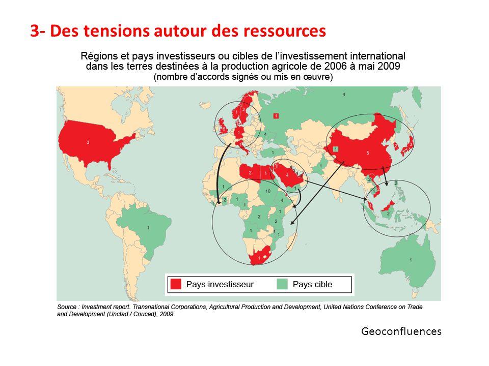 3- Des tensions autour des ressources
