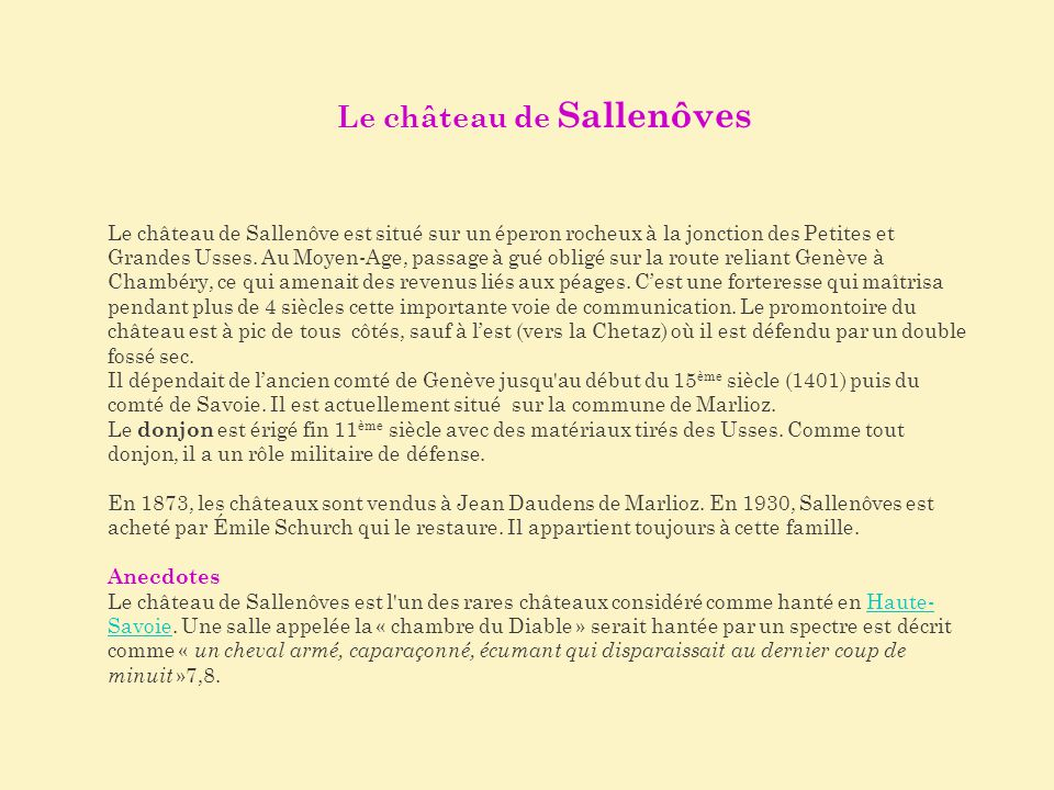 Le château de Sallenôves