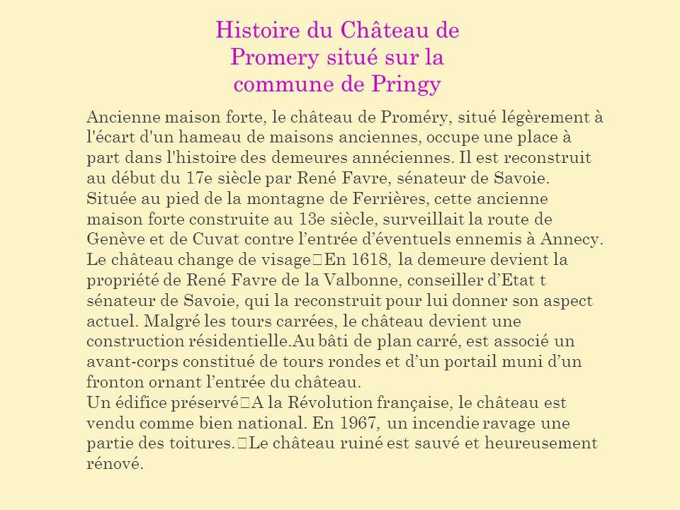 Histoire du Château de Promery situé sur la commune de Pringy
