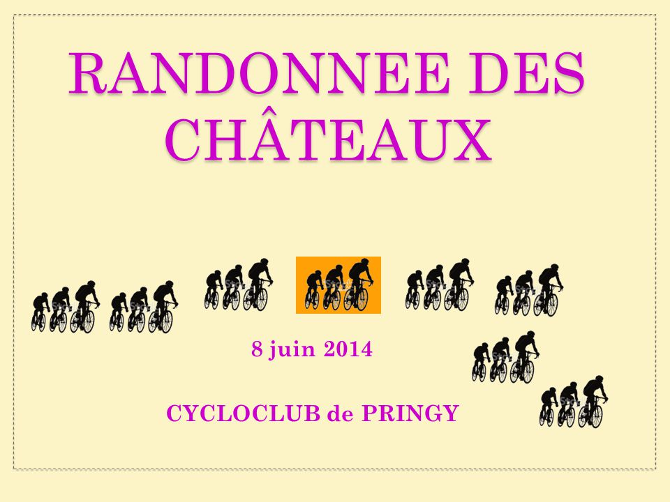 RANDONNEE des CHÂTEAUX