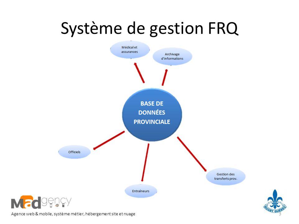 Système de gestion FRQ Agence web & mobile, système métier, hébergement site et nuage