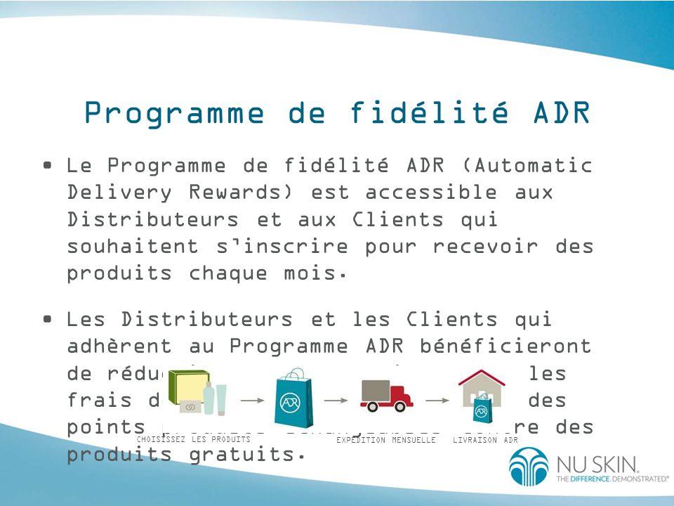 Programme de fidélité ADR