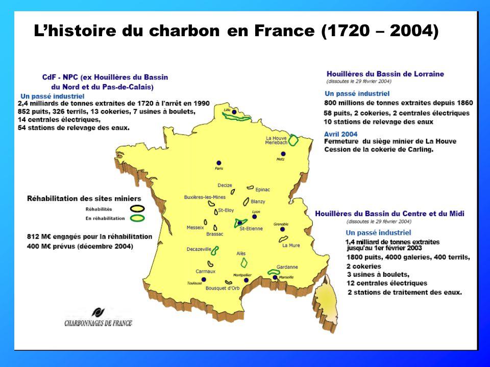 L'histoire du charbon en France (1720 – 2004)
