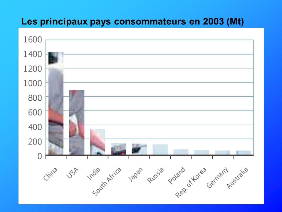 Les principaux pays consommateurs en 2003 (Mt)