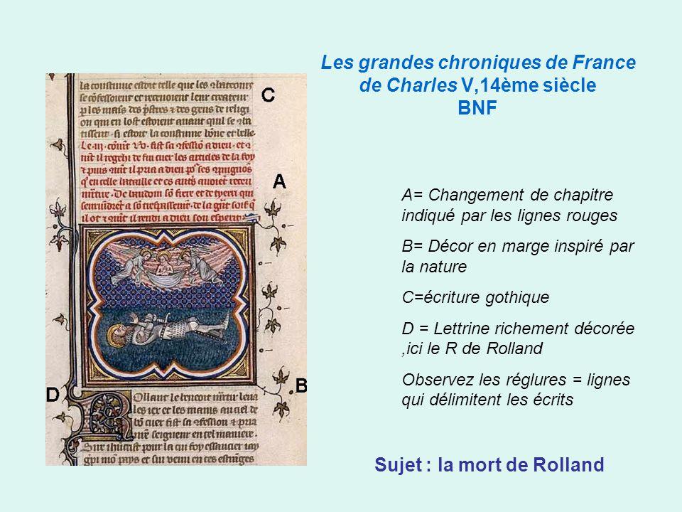 Les grandes chroniques de France de Charles V,14ème siècle BNF