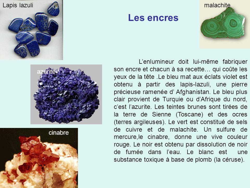 Les encres Lapis lazuli malachite