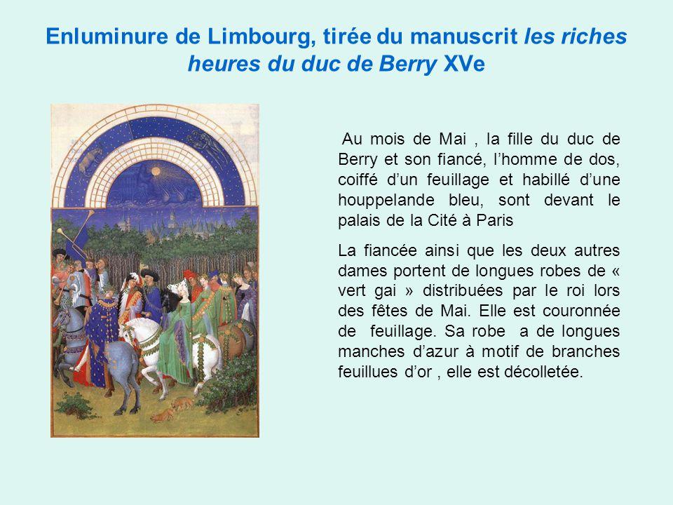 Enluminure de Limbourg, tirée du manuscrit les riches heures du duc de Berry XVe