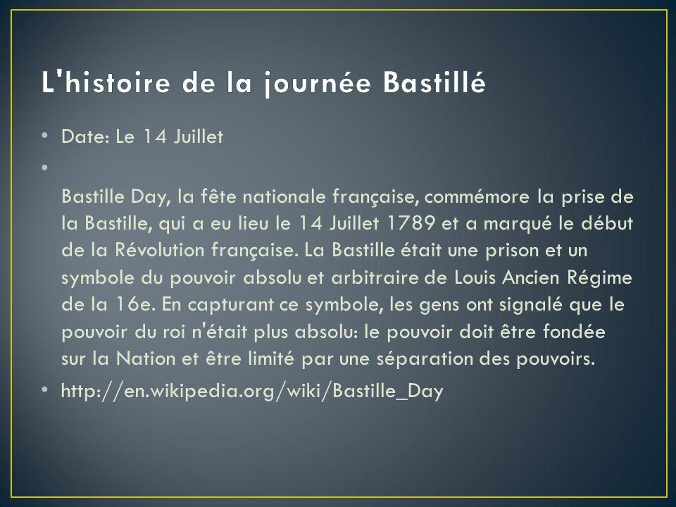L histoire de la journée Bastillé