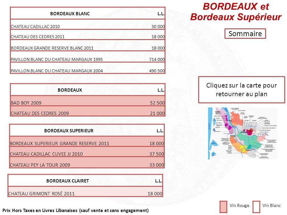 BORDEAUX et Bordeaux Supérieur