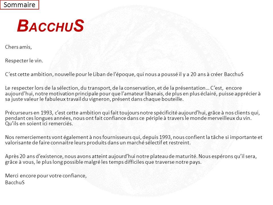 Sommaire BACCHUS.