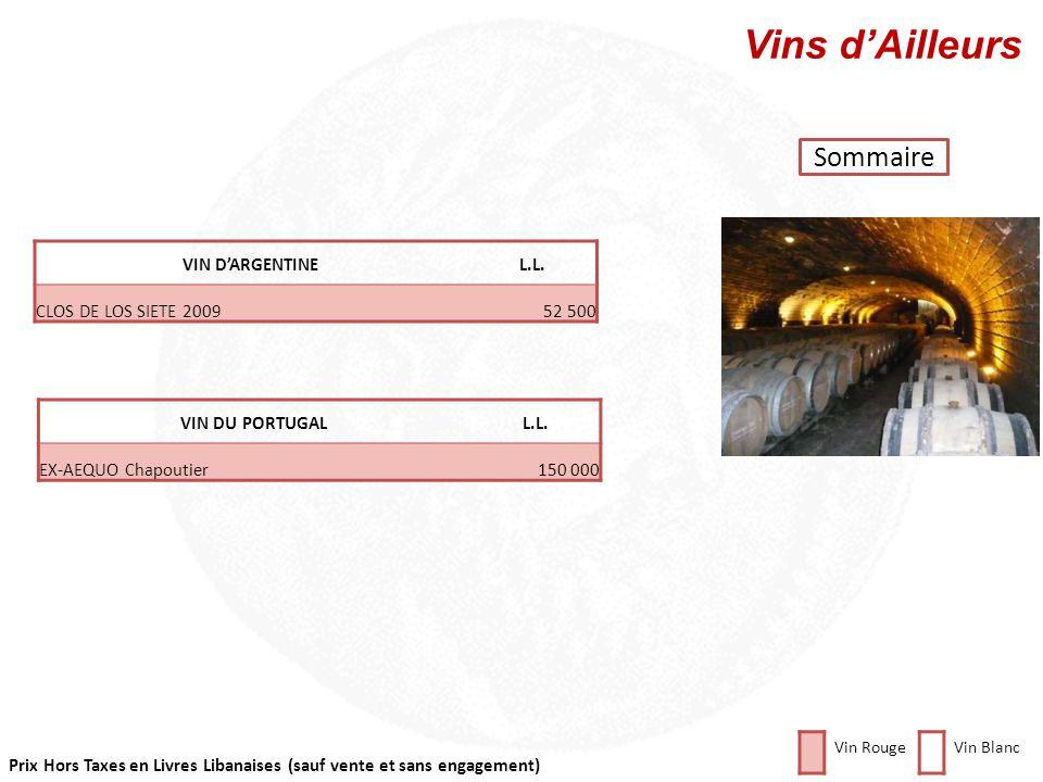 Vins d'Ailleurs Sommaire VIN D'ARGENTINE L.L. CLOS DE LOS SIETE 2009
