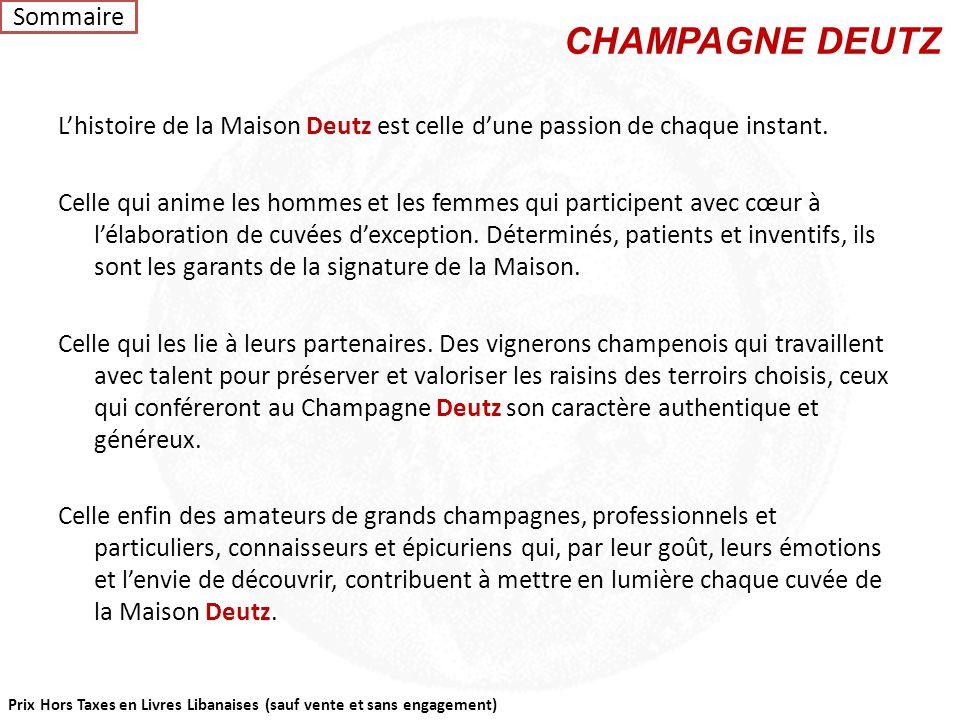 CHAMPAGNE DEUTZ Sommaire
