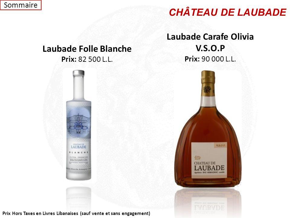 CHÂTEAU DE LAUBADE Laubade Carafe Olivia V.S.O.P Laubade Folle Blanche