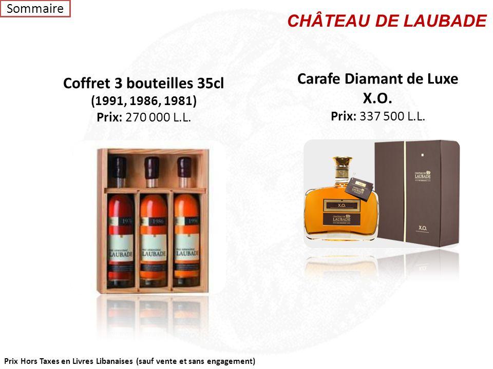 Carafe Diamant de Luxe X.O.