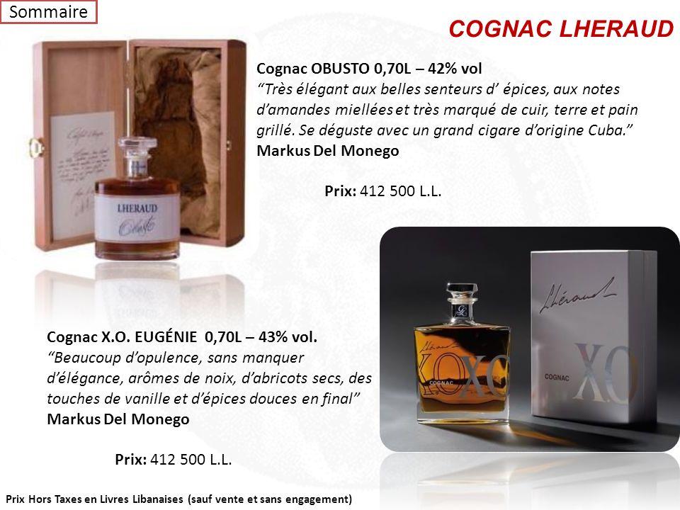 COGNAC LHERAUD Sommaire Cognac OBUSTO 0,70L – 42% vol