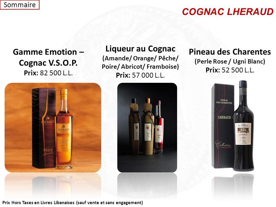 COGNAC LHERAUD Liqueur au Cognac Gamme Emotion – Cognac V.S.O.P.