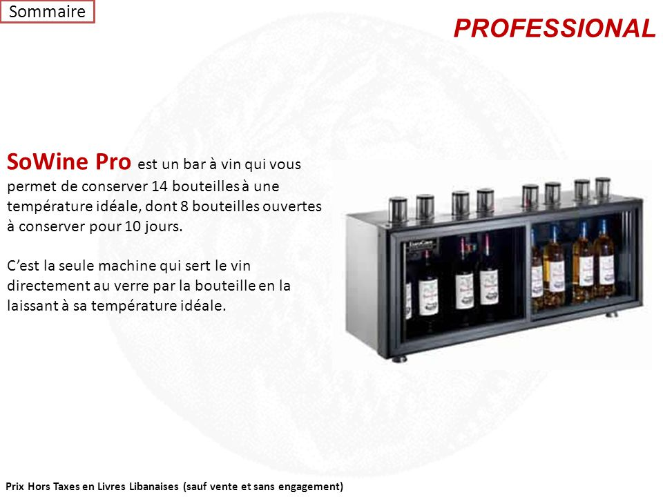 Sommaire PROFESSIONAL.