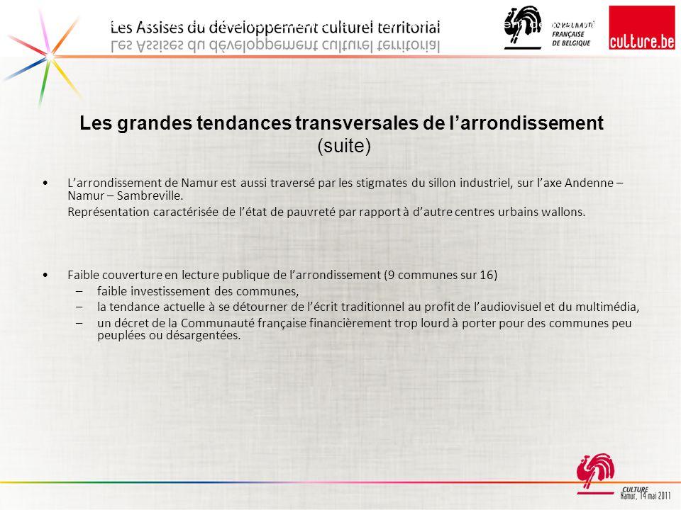 Les grandes tendances transversales de l'arrondissement (suite)