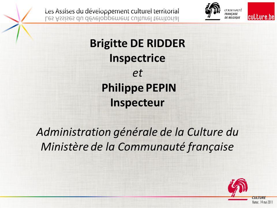 Assises du développement culturel territorial - Arrondissement de Bruxelles
