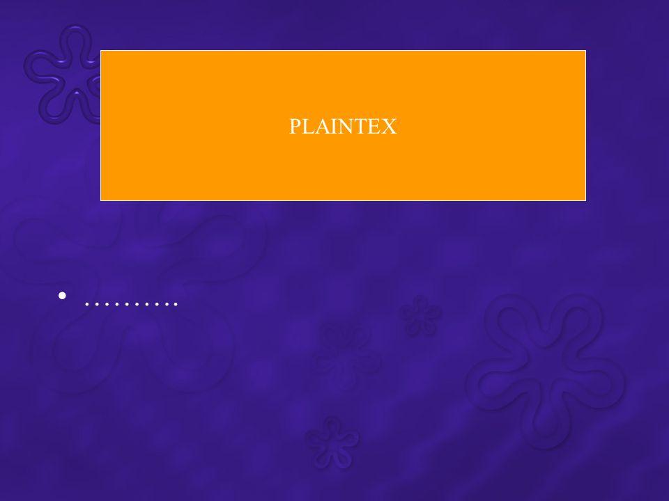 PLAINTEX ……….