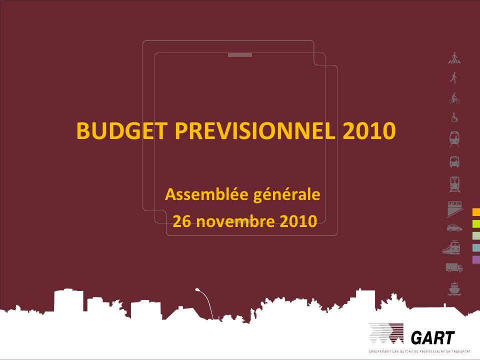 Assemblée générale 26 novembre 2010