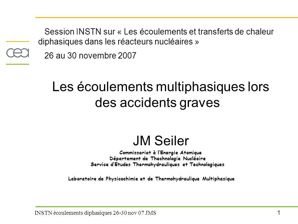 Les écoulements multiphasiques lors des accidents graves
